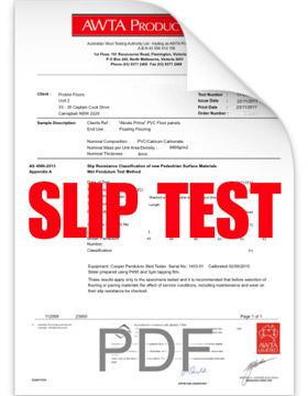 Plantino Native Slip Test Report Icon