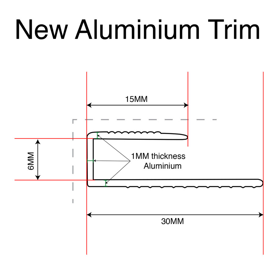6mm Aluminium Trim