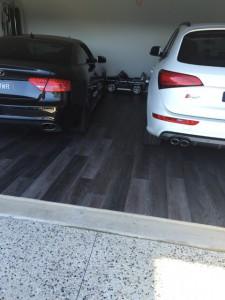 NanoTAC Vinyl plank Garage installation - After