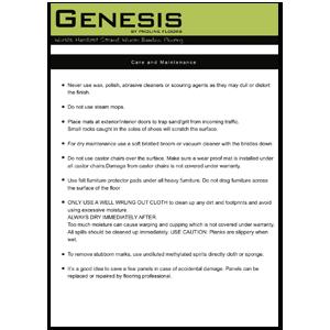 Genesis bamboo floor cleaning guide