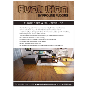 Evolution laminate cleaning guide