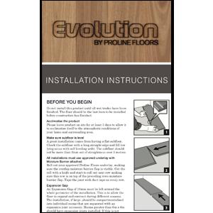 Evolution laminate floor installation guide