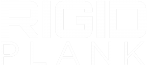 Rigid Plank logo in white