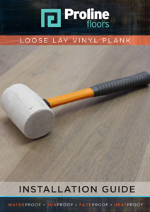 Proline Loose Lay Installation guide cover